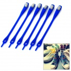 Creative Silicone Buckle Shoelace Set - Blue (6 PCS)