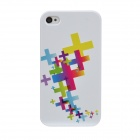 Colorfilm Relief Style Protective Plastic Back Case for Iphone 4 / 4S - Multicolor