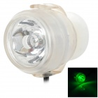 Aquarium Amphibious LED Green Light Decorative Light - Black + Transparent (EU Plug / 100~240V)
