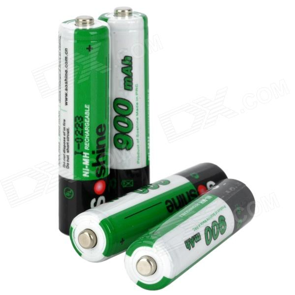 Soshine Replacement 1.2V 900mAh Rechargeable NiMH AAA Battery - Green (4 PCS) 8pcs pkcell battery aaa pre charged nimh 1 2v 1200mah ni mh 3a rechargeable batteries up to 1000mah capacity cycle 1200times