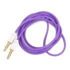 Square 3.5mm Male to Male Audio Cable - Purple + White (102cm)