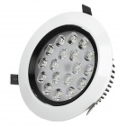 Anti-Glare 18W 1700lm 6500K 18-LED White Light Ceiling Light Lamp - White + Black + Red (AC 85~265V)