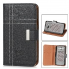 A3510 Stylish Protective PU Leather Case for Samsung Galaxy Grand Duos i9082 - Black