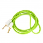 Square 3.5mm Male to Male Audio Cable - Green + White (102cm)
