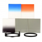 SZSYDZ201304 8-in-1 Graduated ND Color Filter + Filter Bag + Ring Adapter Set - Black