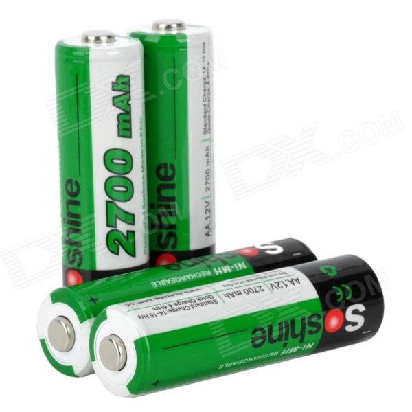 "Soshine Replacement ""2700mAh"" Rechargeable Ni-MH AA Battery (4PCS)"