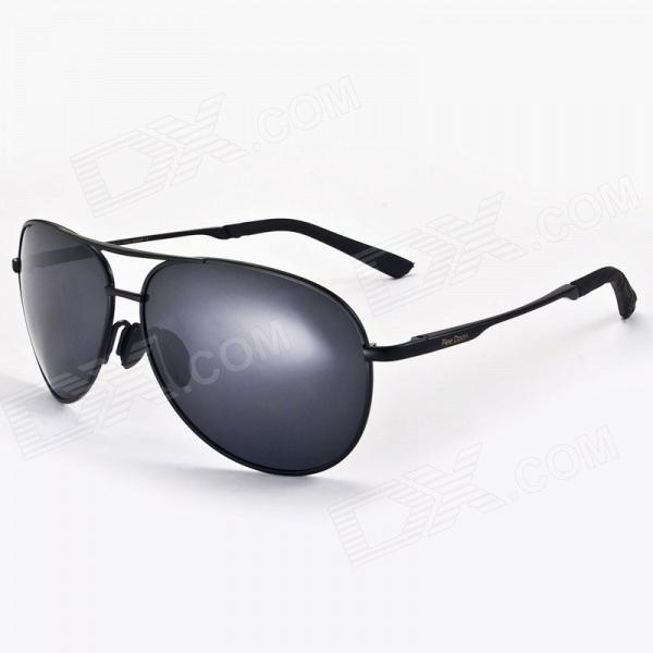 Reedoon 1310 Unisex Polarized UV Protection Lens Sunglasses with Protective Case - Black reedoon 1417 trend of the goddess hip hop sunshade sunglasses black golden