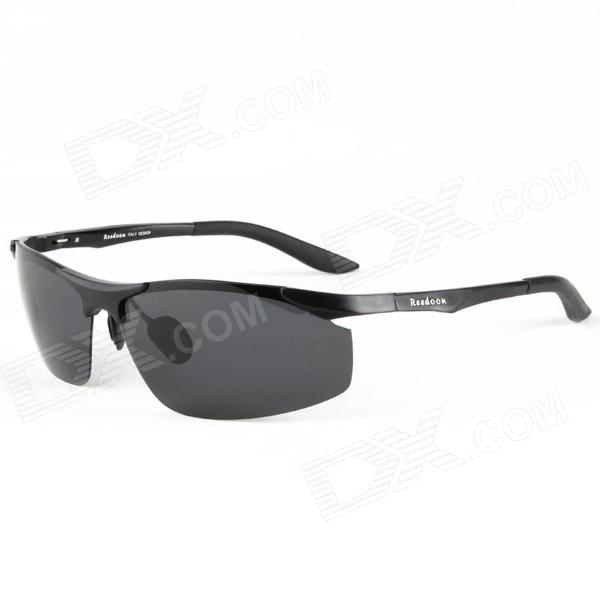 Reedoon 8197 Magnesium Aluminum UV 400 Protection Fashion Resin Lens Polarized Sunglasses - Black