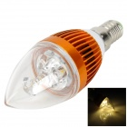 E14 3W 200lm 3500K 3-LED Warm White Candlelight Shaped Lamp (85~265V)