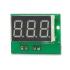 "C20D 3-Digit 0.36"" LED Digital DC Ammeter w/ Fine Adjustment - Black + Green"