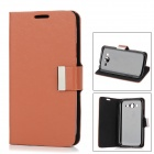 Protective PU Leather Case Stand for Samsung Galaxy Grand Duos i9082 - Copper Brown