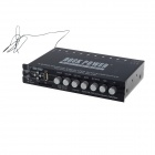 RockPower EQ4-RV 4-Band Car Audio EQ Subwoofer Parametric Equalizer w/ SD / USB - Black (11~15V)