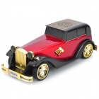 AN-M8 Car Shape Mini 2W MP3 Player Speaker w/ TF Card Slot / USB 2.0 / FM - Black + Red + Golden