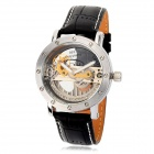 Men's Creative Stainless Steel Self-Winding Mechanical Wrist Watch - Black
