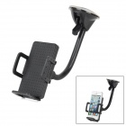 Universal 360' Rotation Car Mount Bracket w/ Suction Cup Flexible Holder for Cellphone - Black