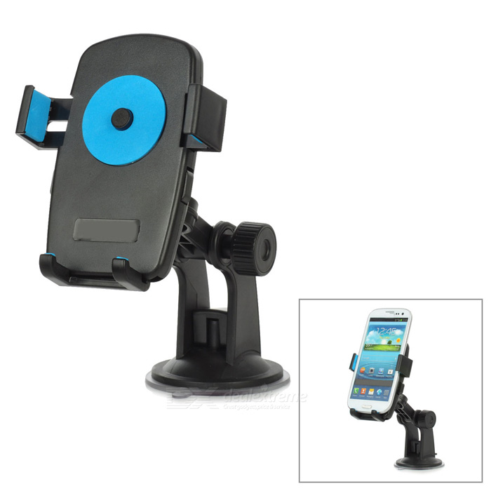 Universal 360 Degree Rotational Desktop Holder w/ Suction Cup for Cell Phone - Blue + Black universal swivel tripod stand holder for cell phone camera black