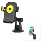 Universal 360 Degree Rotational Desktop Holder w/ Suction Cup for Cell Phone - Yellow + Black
