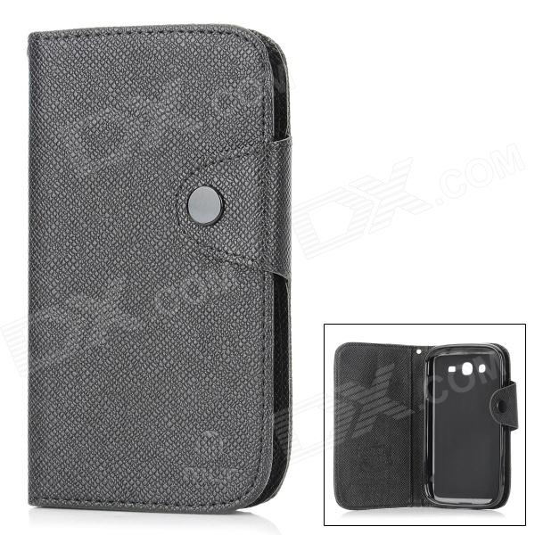 купить MLT A3510 Protective PU Leather Case w/ Hand Strap for Samsung Galaxy Grand Duos i9082 - Black недорого