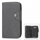 MLT A3510 Protective PU Leather Case w/ Hand Strap for Samsung Galaxy Grand Duos i9082 - Black