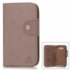 MLT A3510 Protective PU Leather Case w/ Hand Strap for Samsung Galaxy Grand Duos i9082 - Brown