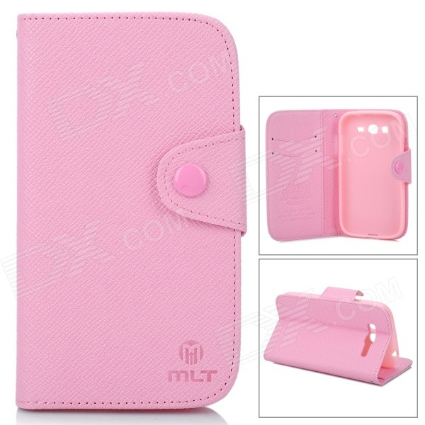 купить MLT A3510 Protective PU Leather Case w/ Hand Strap for Samsung Galaxy Grand Duos i9082 - Pink недорого