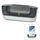 2-in-1 Cell Phone + Battery Charging Dock for Samsung N7100 - Black + Grey