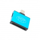 3-in-1 8 Pin Lightning to 30 Pin / Micro 5P / Mini 5P Adapter for iPhone 5 - Blue