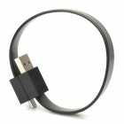 Micro USB Male to USB Male Magnetic Data Cable - Black