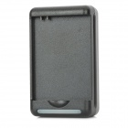 AC Power Battery Charger w/ USB Power Outlet for Samsung Galaxy S4 / i9500 - Black (2-Flat-Pin Plug)