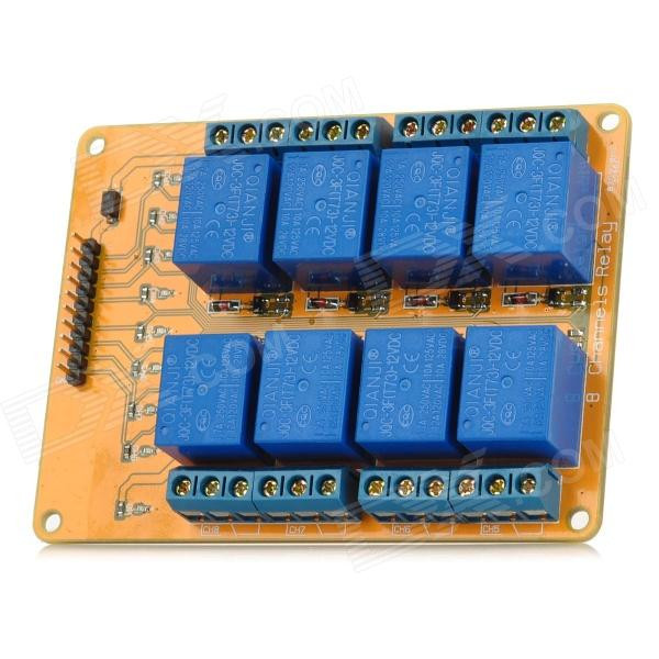 Meeeno MN-MD-R0812 8-Channel 12V Relay Module Expansion Board - Orange + Blue 12v 3pins adjustable frequency led flasher relay motorcycle turn signal indicator motorbike fix blinker indicator g0181re p120 3