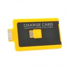 USB Male to Apple 30 Pin Male Charging & Sync Card for iPhone 4 / 4S / iPad / iPod - Yellow (63cm)