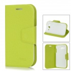 Stylish Protective PU Leather Case for Samsung Galaxy Grand Duos i9082 - Green + White