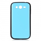Protective TPU Soft Back Case for Samsung Galaxy Grand Duos i9082 - Black + Sky Blue