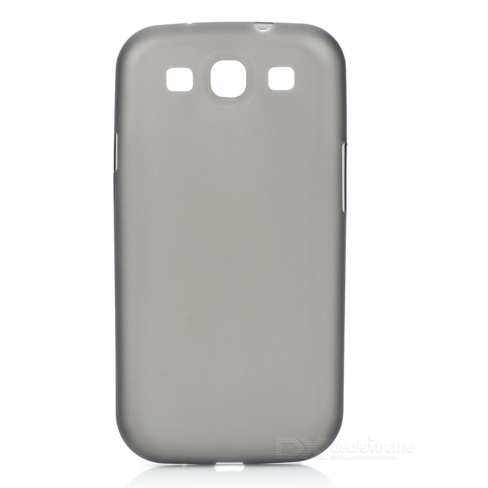 где купить Protective Plastic Case for Samsung Galaxy S3 i9300 - Translucent Black дешево