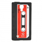 Cassette Style Protective Silicone Case for Samsung Galaxy S4 i9500 - Black + Red + White