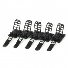 Stair Style Adjustable Adhesive Cable Ties - Black (5 PCS)