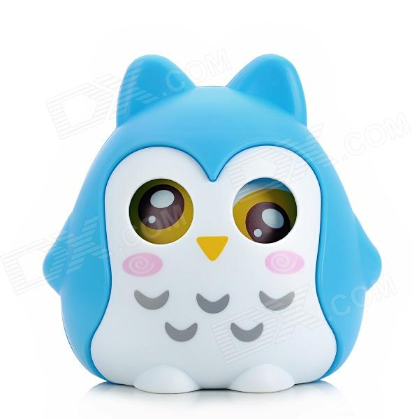 Cute Owl Shape PS Money Coin / Candy Bank for Kids - Blue + White cool funny bomb shape coin bank w sound