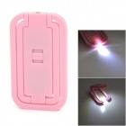 Multi-Function Card Style Pocket Folding LED White Table Light - Pink + Silver (3 x AG3)
