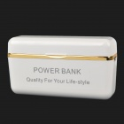 USB aufladbare 2600mAh Mobile Power Bank für iPhone 5 / iPod Nano 7 / iPad Mini - White + Golden
