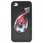 Colorfilm Cool Football Pattern Protective Plastic Back Case for Iphone 4 / 4S - Black