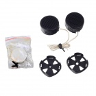 Tiaoping TP-005A 500W Mini Car Motorcycle Horn Tweeter Speaker - Black (2 PCS)