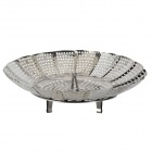 Foldable Stainless Steel Fruit Dish / Steamer - Silver