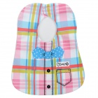 9061 Strip Pattern Shirt w/ Bow Tie Style Bib w/ Velcro for Baby - Multicolored