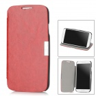 Protective Flip-Open PU Case for Samsung Galaxy S4 i9500 - Red + Black