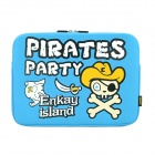 "ENKAY ENK-2101 Pirates Pattern Anti-Shock Sponge Sleeve for 15'' / 15.4'' / 15.6"" Laptop - Blue"