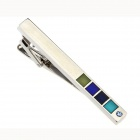 Elegante Dekorative Blocks Messing Männer Tie Clip - Silber