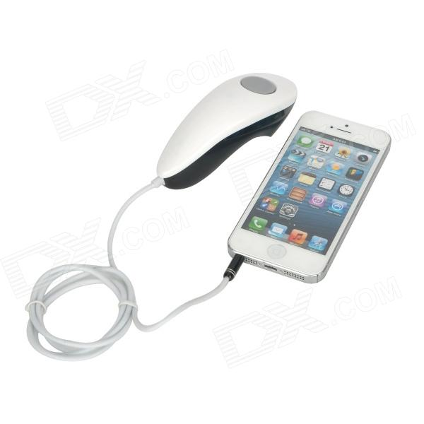 Wired Camera Remote Control Shutter Release for iPhone 4S / 4 / 5 - Black +  White (3 5mm Jack)