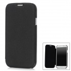 Protective PU Leather + ABS Plastic Case for Samsung Galaxy S4 i9500 - Black