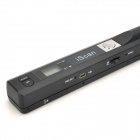iScan S001 LCD Scanner 900dpi Cordless Handheld A4 w / USB + Micro SD Card Slot - Black