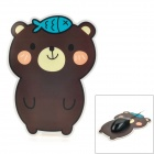 Cute Bear Design Mauspad - Braun